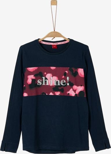 s.Oliver Junior Shirt in nachtblau / himbeer, Produktansicht