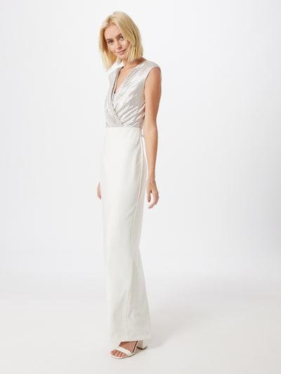 Lauren Ralph Lauren Abendkleid 'IRAKITA-CAP SLEEVE-EVENING DRESS' in silber / weiß, Modelansicht