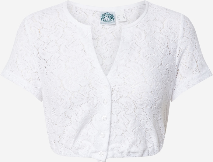 HAMMERSCHMID Klederdracht blouse 'Gerlinde' in Wit dw7S3qfc