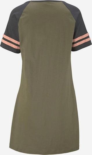 ARIZONA Nachthemd in anthrazit / oliv / apricot, Produktansicht