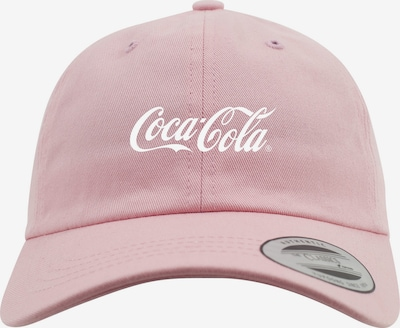 Mister Tee Dadcap 'Coca Cola' in pastellpink / silber / weiß: Frontalansicht