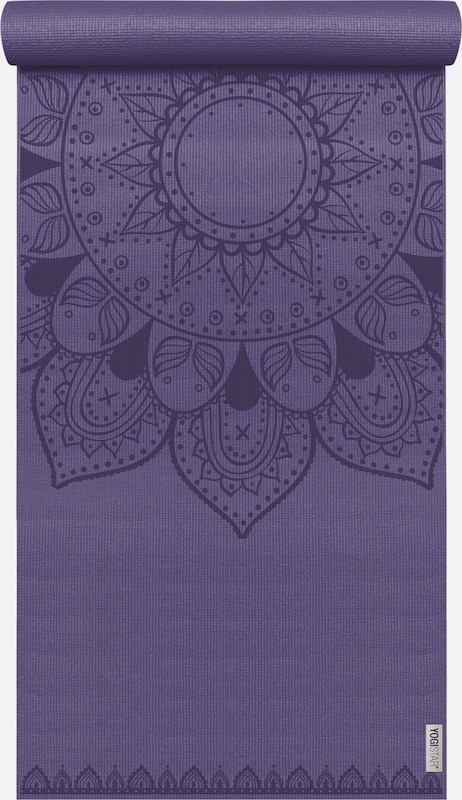YOGISTAR.COM Yogamatte 'Basic Art Collection Harmonic Mandala' in aubergine / dunkellila, Produktansicht