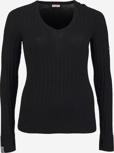 KangaROOS V-Ausschnitt-Pullover in schwarz: Frontalansicht