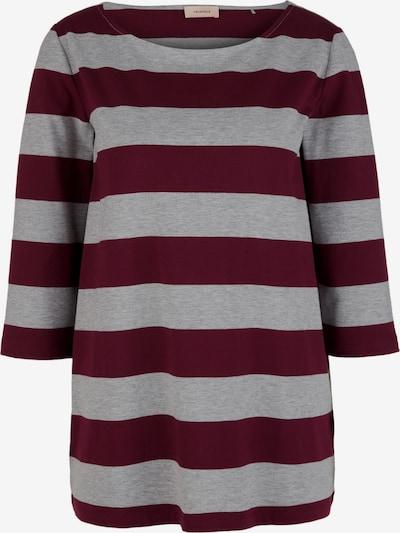 TRIANGLE Shirt in hellgrau / bordeaux, Produktansicht