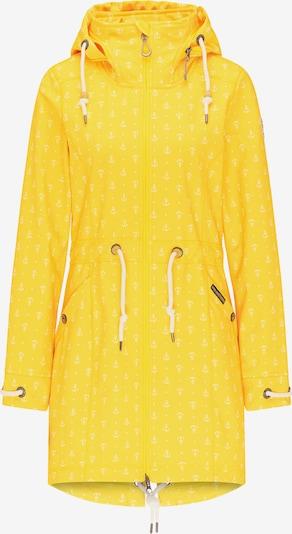 Schmuddelwedda Softshellmantel in gelb, Produktansicht