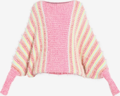 MYMO Pullover in hellblau / gelb / pink, Produktansicht