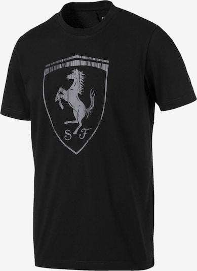 PUMA Shirt 'Ferrari' in de kleur Grijs / Zwart, Productweergave