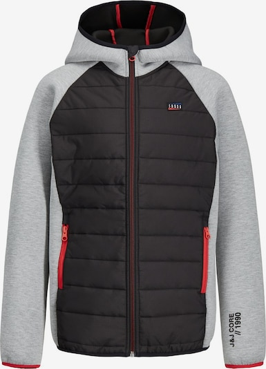 Jack & Jones Junior Jacke 'JCOTOBY JACKET JR' in basaltgrau / hellgrau, Produktansicht