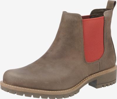 ECCO Chelsea Boots in braunmeliert / pastellrot, Produktansicht