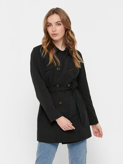 ONLY Trenchcoat in schwarz, Modelansicht