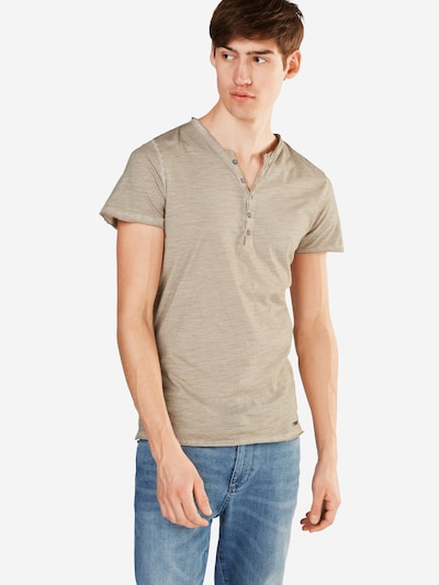Key Largo T-Shirt 'MT LEMONADE button' in sand: Frontalansicht