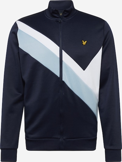 Lyle & Scott Sweatjacke in navy / opal, Produktansicht
