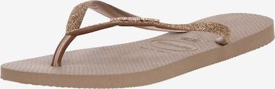 Flip-flops 'Glitter' HAVAIANAS pe auriu / roz, Vizualizare produs