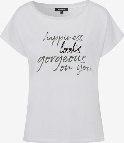 MORE & MORE Shirt in khaki / weiß, Produktansicht