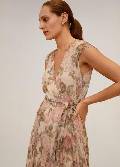 MANGO Plážové šaty - krémová / pastelově zelená / starorůžová, Model/ka