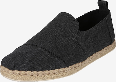 TOMS Halbschuhe 'DECONSTRUCTED ALPARGATA ROPE' in black denim, Produktansicht