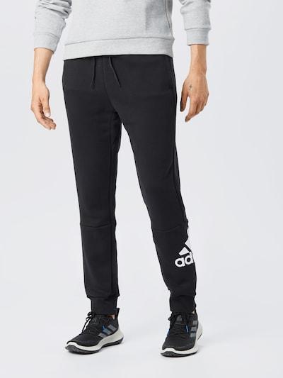 ADIDAS PERFORMANCE Spodnie sportowe w kolorze czarny / białym: Widok z przodu