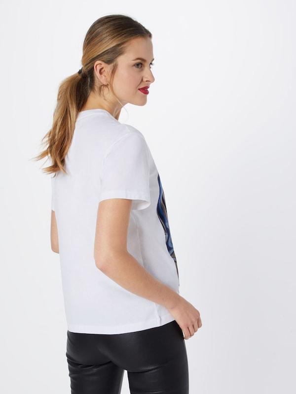 shirt Postyr Face' BleuLavande Blanc 'posirina En T jLAR54