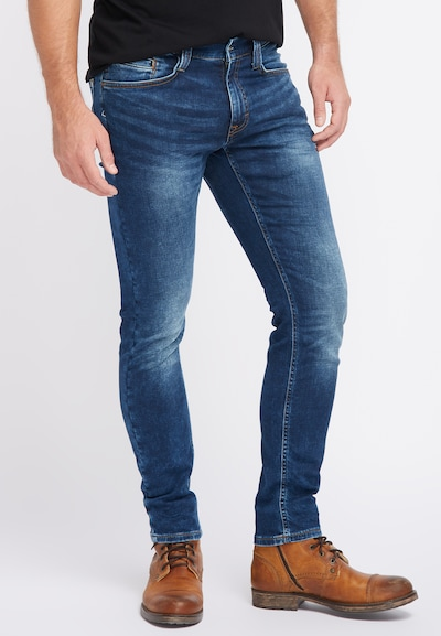MUSTANG Hose 'Oregon' in blue denim, Modelansicht