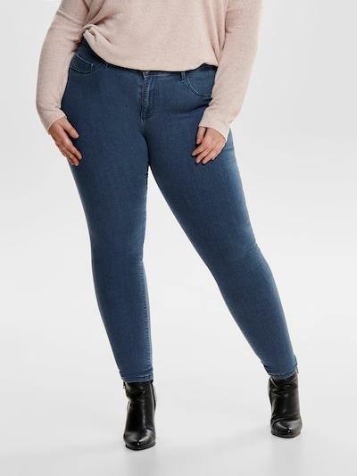 ONLY Carmakoma Jeans in blue denim, Modelansicht