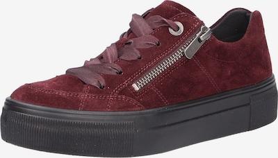 Legero Sneaker in bordeaux: Frontalansicht