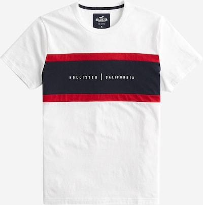 HOLLISTER T-Shirt en rouge / noir / blanc, Vue avec produit