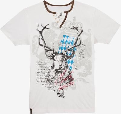 MARJO Trachtenshirt in mischfarben / weiß, Produktansicht
