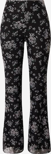 Pantaloni Tally Weijl pe negru / alb: Privire frontală