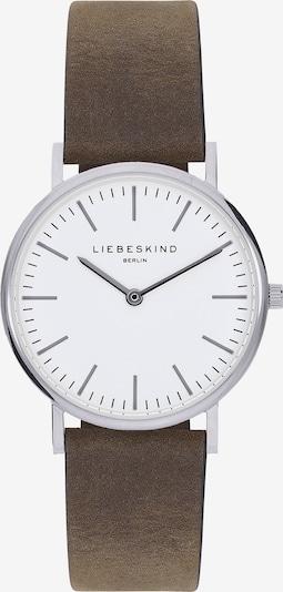 Liebeskind Berlin Montre à affichage analogique en brun foncé / argent / blanc, Vue avec produit