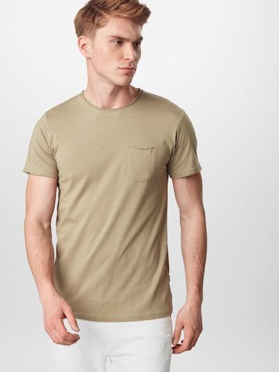 Tricou !Solid pe oliv: Privire frontală