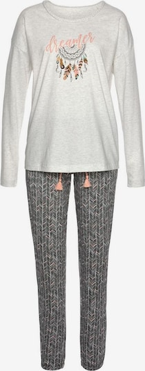 VIVANCE Pyjama in grau / weiß, Produktansicht