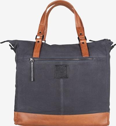 Presly & Sun Laptoptasche 'Dane' in nachtblau / cognac / schwarz, Produktansicht