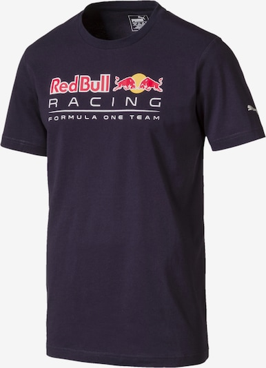 PUMA T-Shirt 'Red Bull Racing' in ultramarinblau / gelb / rot / weiß, Produktansicht
