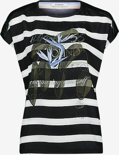 Public Shirt in grün / schwarz / weiß, Produktansicht
