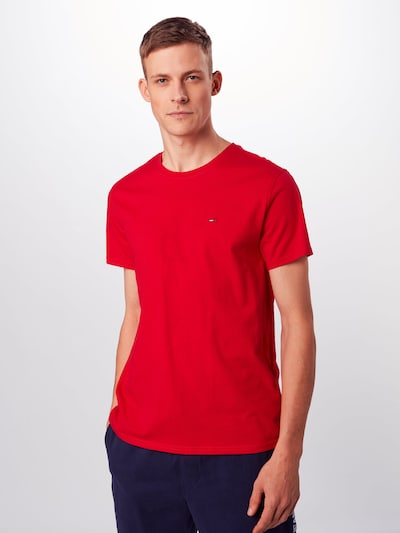 Tommy Jeans T-Shirt 'ESSENTIAL' in rot: Frontalansicht