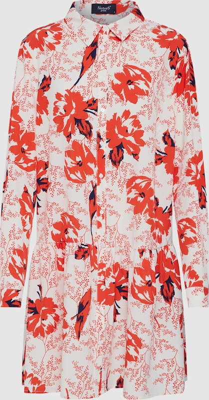 SISTERS SISTERS SISTERS POINT Kleid 'VAJA-DR3' in creme   rot  Neu in diesem Quartal 1a4ca5