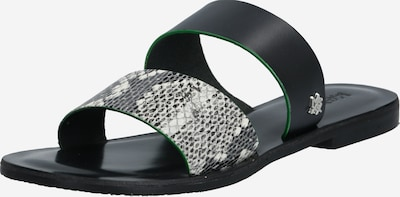 MEXX Sandale 'Enea' in schwarz / weiß: Frontalansicht
