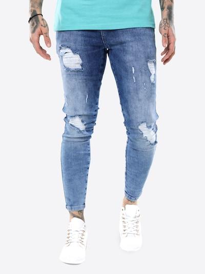 Jeans SikSilk pe denim albastru, Vizualizare model