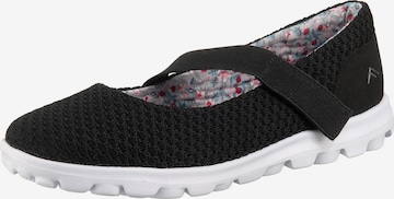 Freyling Ballet Flats with Strap 'Jane' in Black