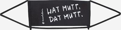 recolution Stoffen mondkapje 'WATMUTTDATMUTT' in de kleur Zwart, Productweergave