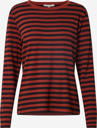 TOM TAILOR DENIM Shirt in rostbraun / schwarz, Produktansicht