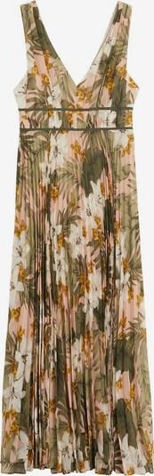 MANGO Kleid in gelb / khaki / rosé / weiß, Produktansicht