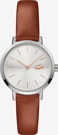 LACOSTE Uhr in braun / silber / weiß: Frontalansicht