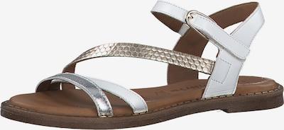 TAMARIS Sandale in gold / silber / weiß, Produktansicht