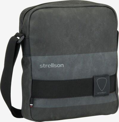 STRELLSON Schoudertas 'Finchley' in de kleur Rookgrijs / Donkergrijs / Zwart, Productweergave