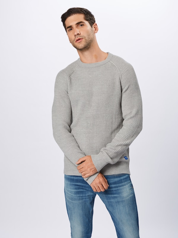 JACK & JONES Pullover 'PANNEL' in grau: Frontalansicht