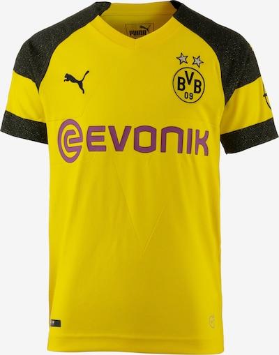 PUMA Fußballtrikot 'Borussia Dortmund' in limone / orchidee / schwarz: Frontalansicht