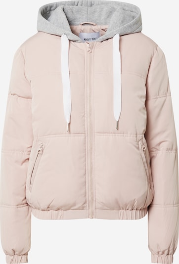 ABOUT YOU Jacke 'Arika Puffer Jacket' in grau / rosé, Produktansicht