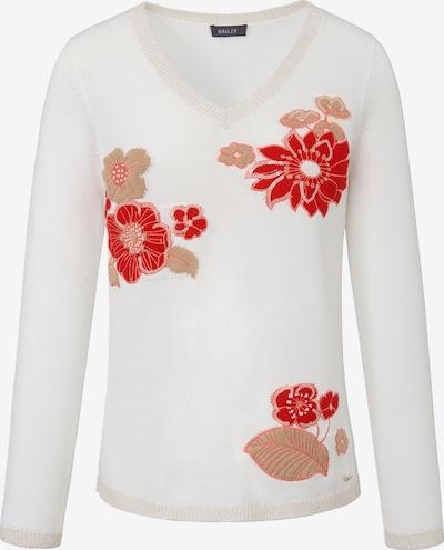 Basler Strickpullover mit floralen Stickereien und Glitzer-Effekt in mischfarben, Produktansicht