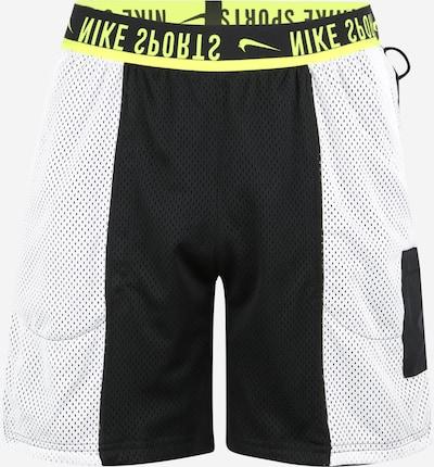 NIKE Sportbroek in de kleur Geel / Lichtgrijs / Zwart, Productweergave